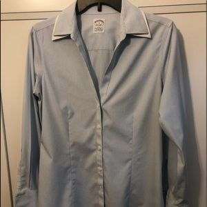 Brooks Brothers Fitted Non-Iron Stretch Shirt Sz 8